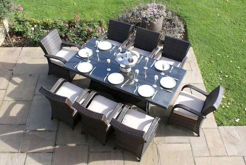 Tulang 8-Seat Rectangular Dining Set - Oswaldtwistle Mills Rattan