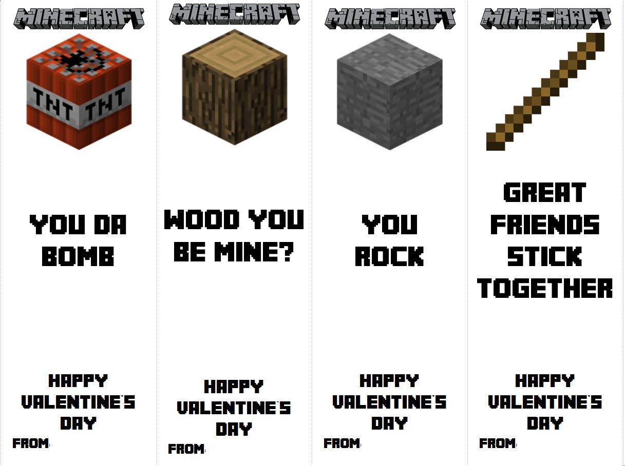 Printable Minecraft Valentine Bookmarks Valentines Bookmarks Valentines School Minecraft Valentines