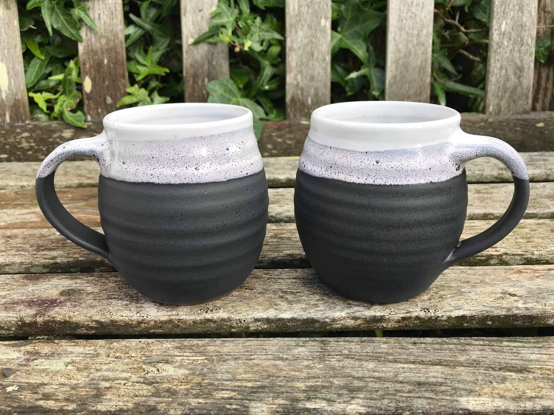Excited to share this item from my #etsy shop: Ceramic Mug / handmade pottery / black & white / 300ml #ceramicshandmade #handmadeceramics #handmadepottery #ceramicsandpottery #handmadeceramic #handmade #ceramic #ceramicmug #mug