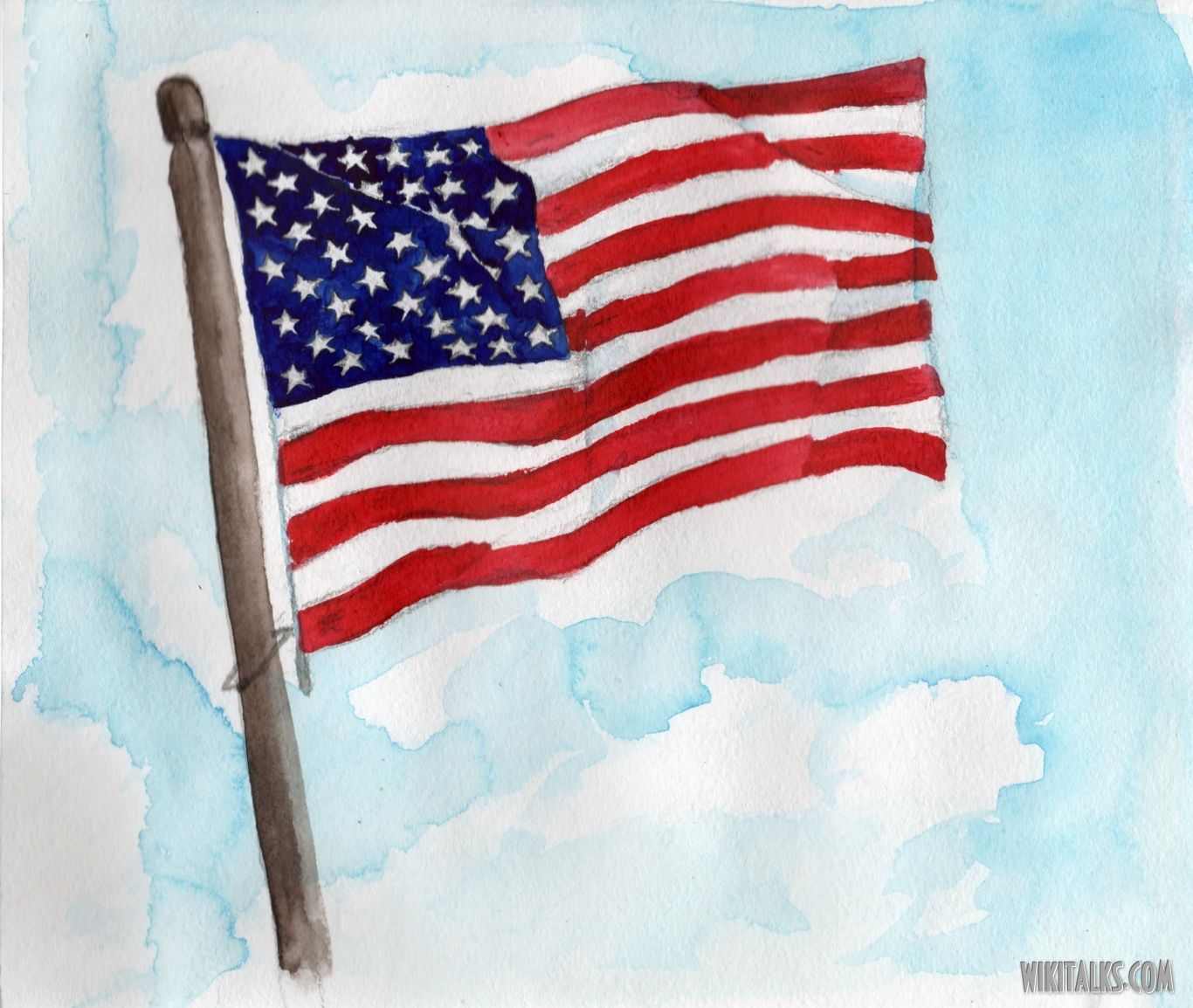 how to draw us flag kids How to paint the US flag with water colors American flag art Flag