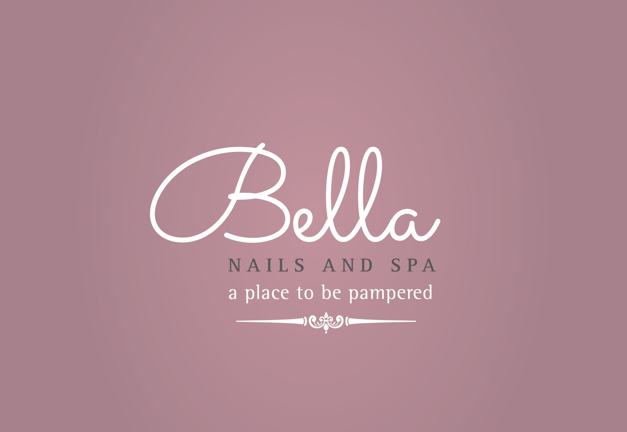 Nombres De Salones De Belleza Bella Nail And Spa Selected Logo Nail Salon Logo De