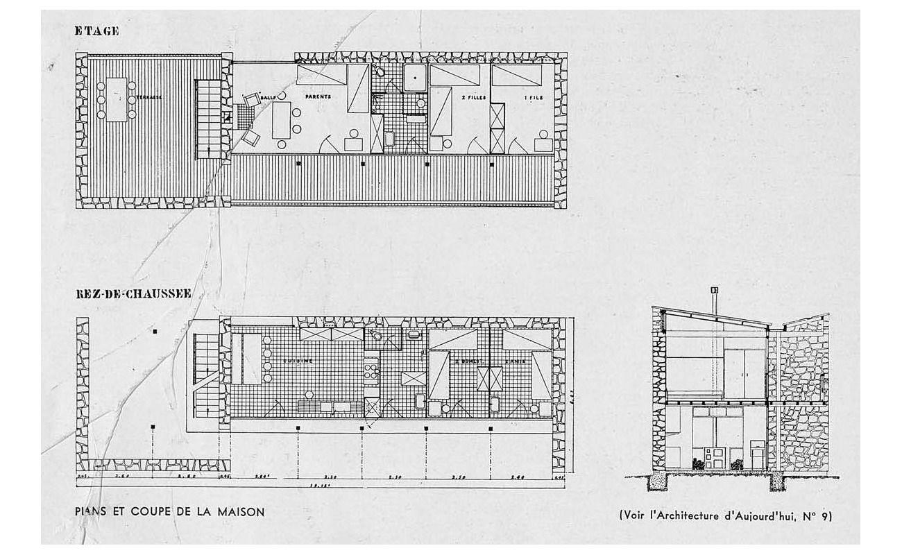 Villa le sextant les mathes france 1935 le corbusier for Les plan de villa