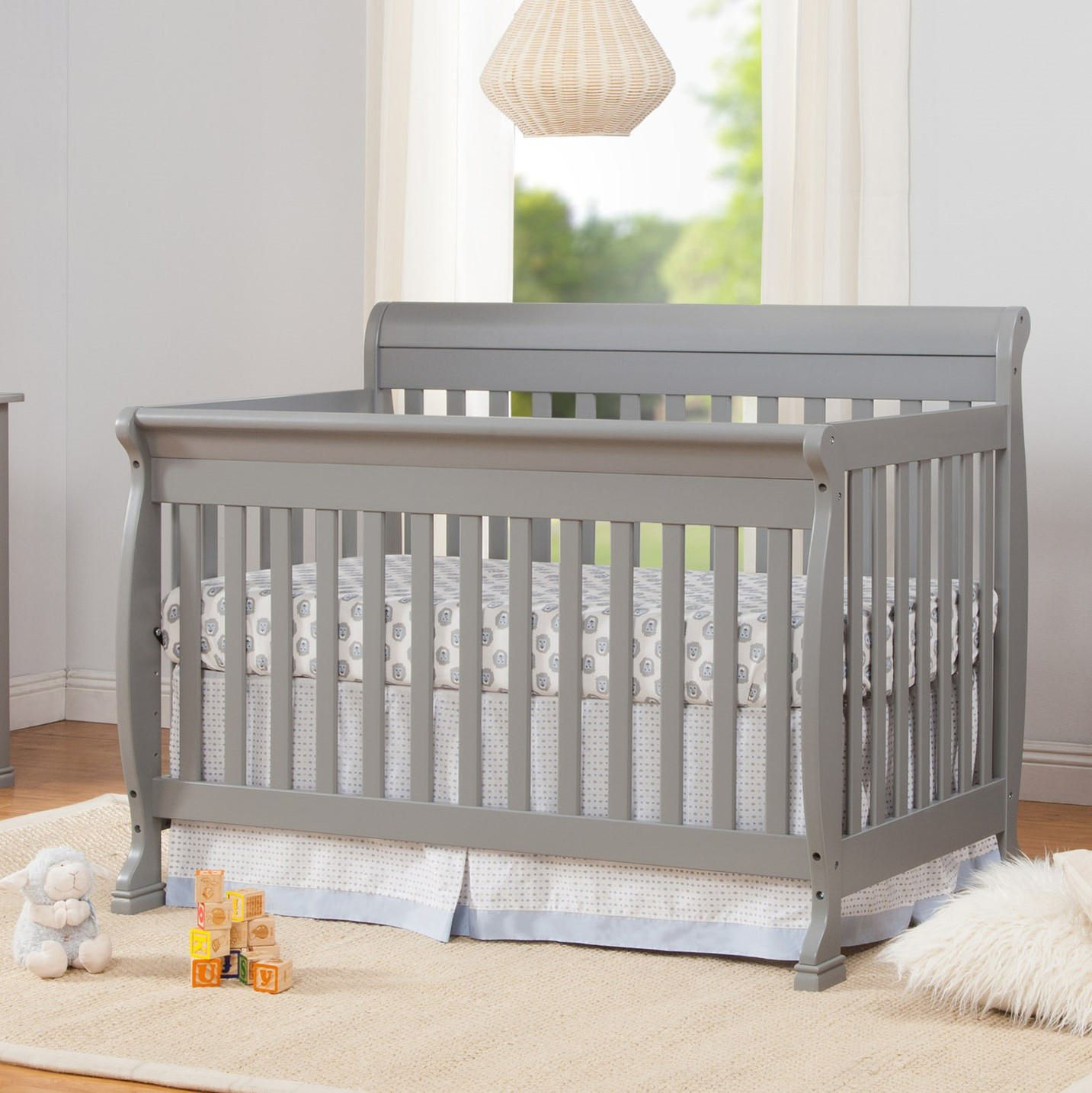 bed conversion crib with angle gg emily davinci toddler convertible in sleigh kalani dimensions