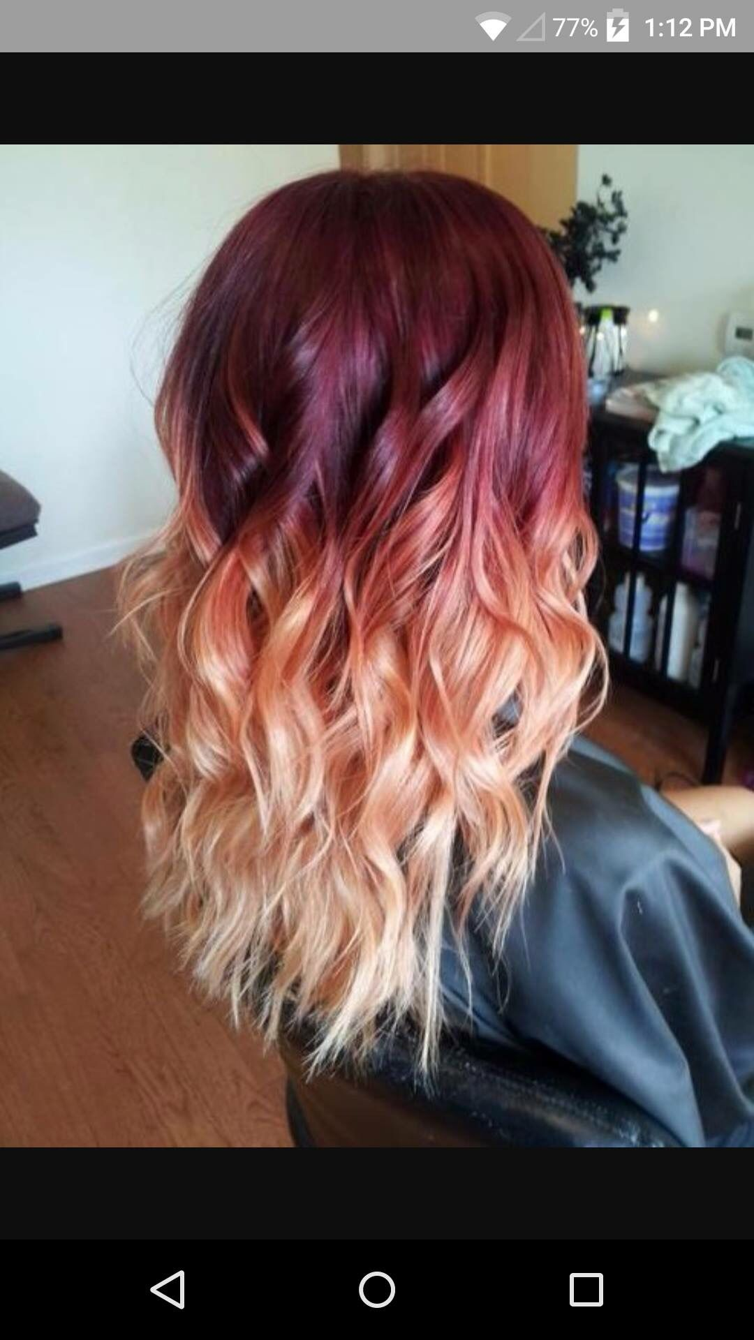 Burgundy To Warm Rose Gold Ombre Balayage In 2019 Ombre Hair