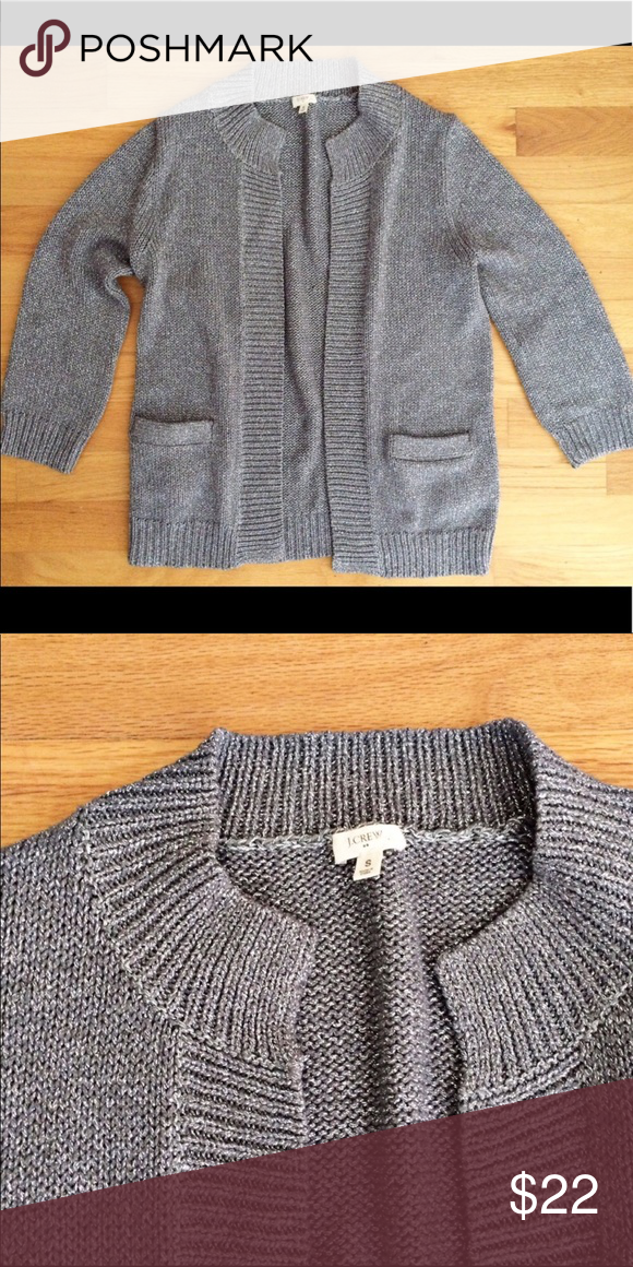 cd31e8ff16 J. Crew factory silver metallic cardigan sweater Gorgeous J. Crew factory  silver metallic cardigan. Sweater is open front with no closure.