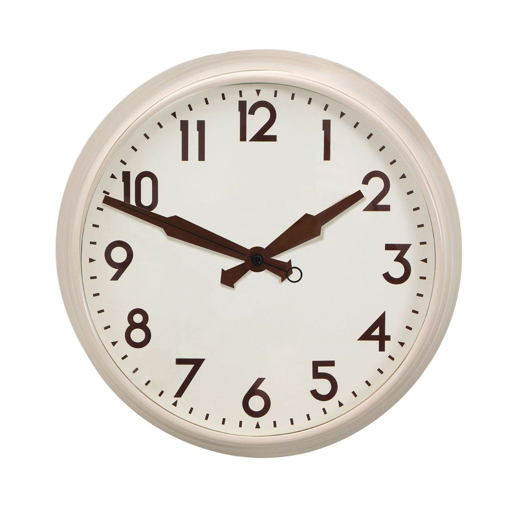 Wall clock cream facebrown numbers cream metal clocks wall clock cream facebrown numbers cream metal amipublicfo Image collections