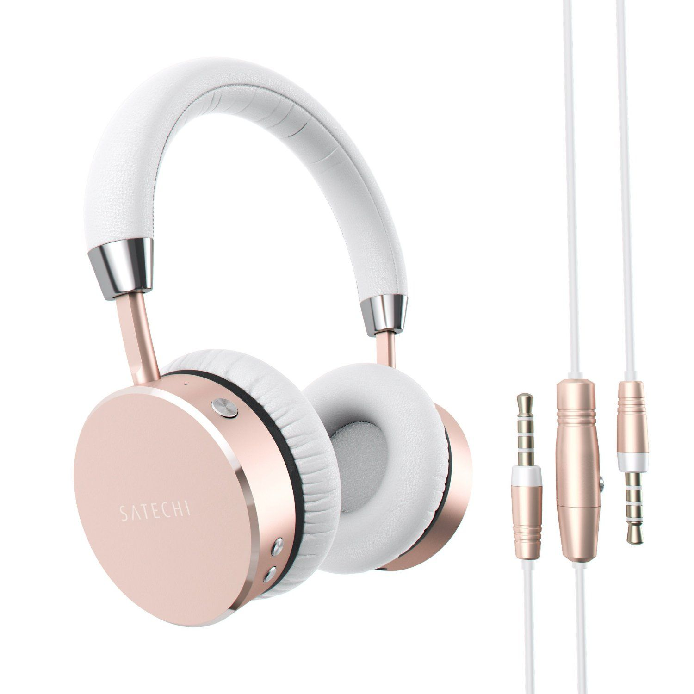 Amazon Com Satechi Aluminum Bluetooth Wireless Headphones With 3 5