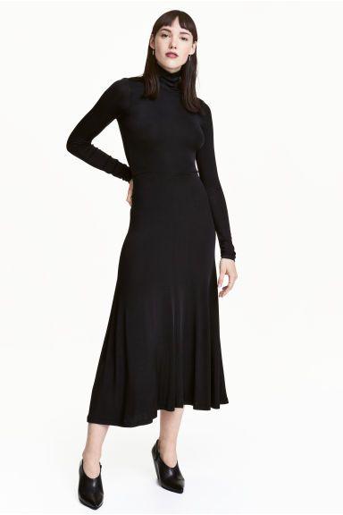 maxi jurk met col