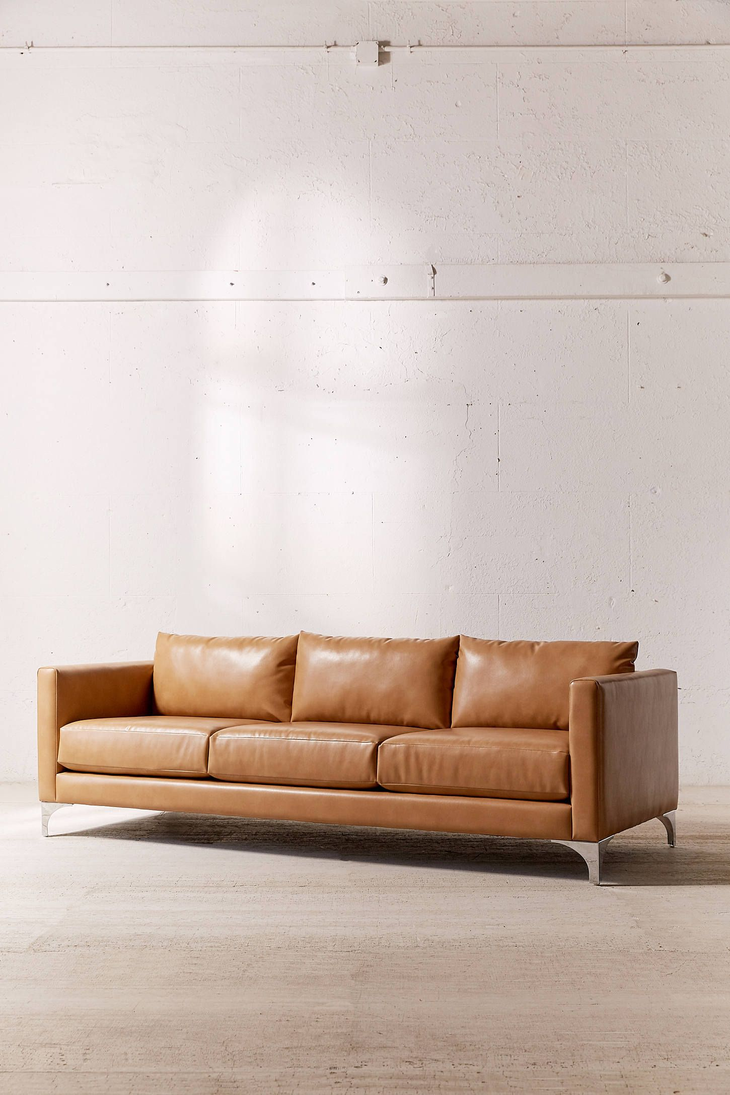 Awesome Chamberlin Recycled Leather Sofa Javier And Carolyn Pabps2019 Chair Design Images Pabps2019Com