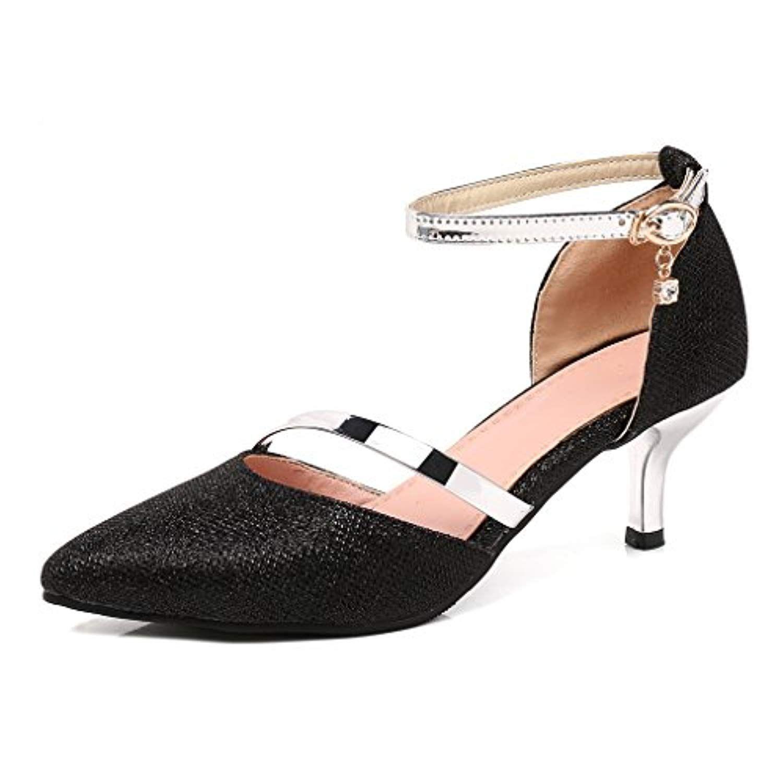 219031582b4d86 OALEEN Escarpins Sexy Femme Petit Talon Bout Pointu Bride Cheville  Chaussures Soirée Mariage 2019