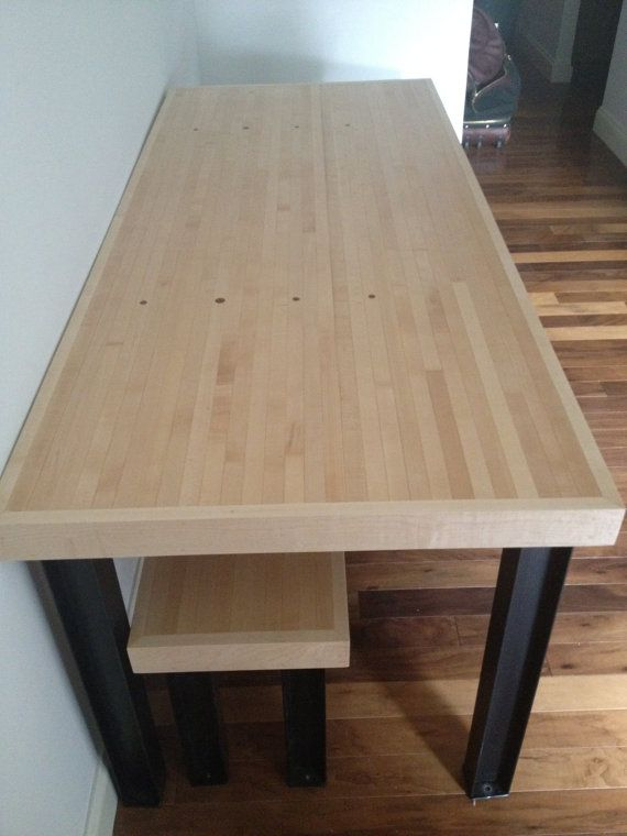Reclaimed Wood Bowling Lane Wood Great For Dining Table Desk