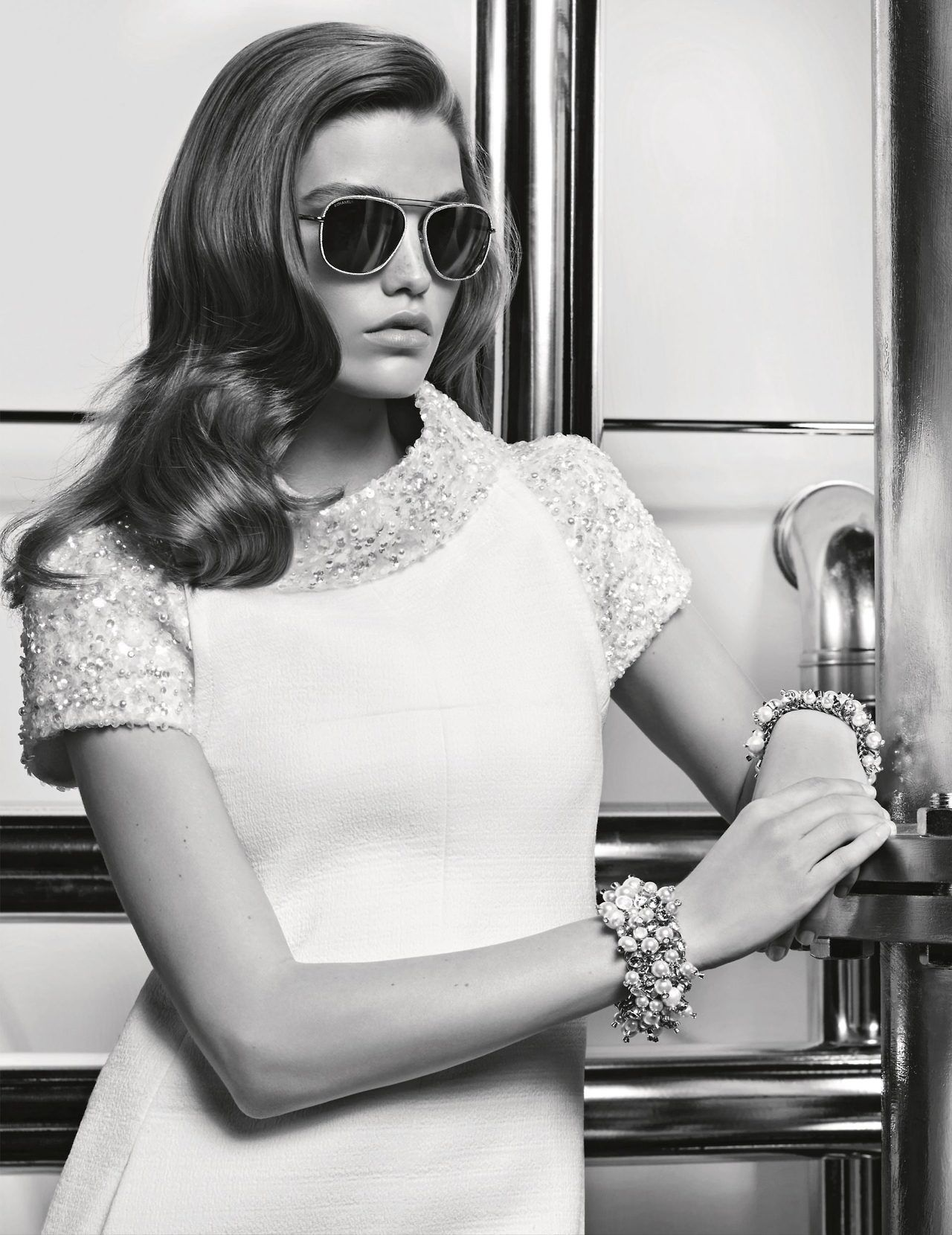 becc3ba139b Ad Campaign  Chanel Eyewear Fall Winter 2017-2018 Model  Luna Bijl  Photographer  Karl Lagerfeld Fashion Editor  Lucinda Chambers Hair  Sam  McKnight MakeUp  ...