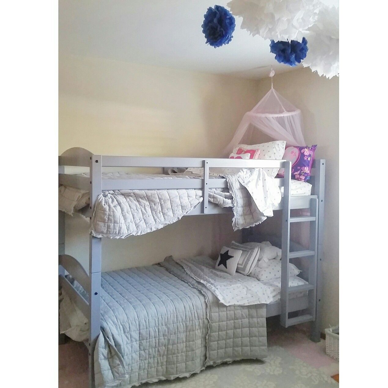 Brother sister shared bedroom Bunk beds His and hers