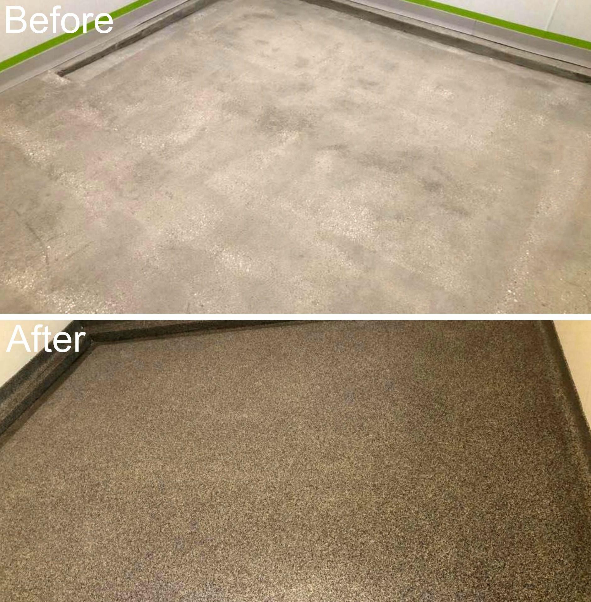 Graniflex Garage Floor Transformation In 2020 Concrete Decor Epoxy Floor India Home Decor