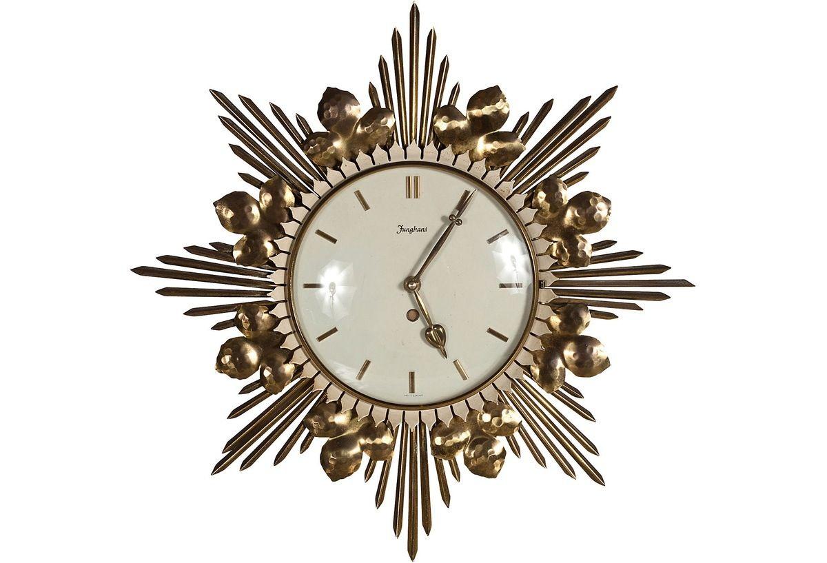 Wall Clock Art Deco Pinterest