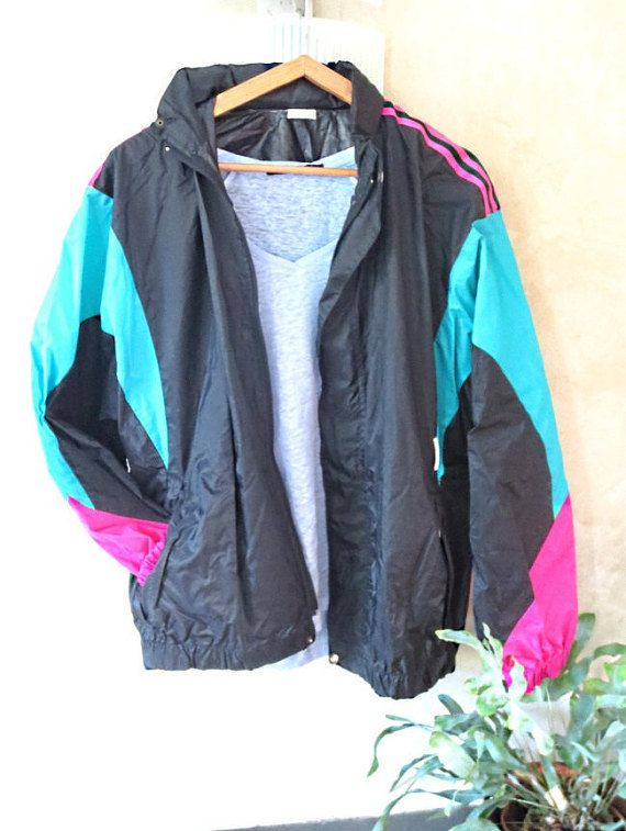 jacket sport vintage Adidas waterproof jacket wind 80s old