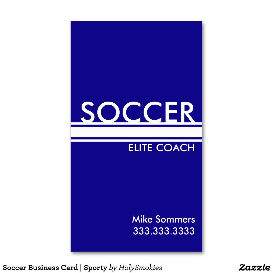 Soccer Business Card | Sporty#zazzle #soccer #coaching | Business ...