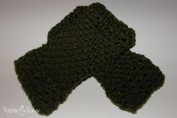 Ch Fingerless Mitten Crochet Pattern Pair Textiles Pinterest