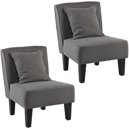Holly & Martin Purban 2-Piece Slipper Chairs, Cool Grey