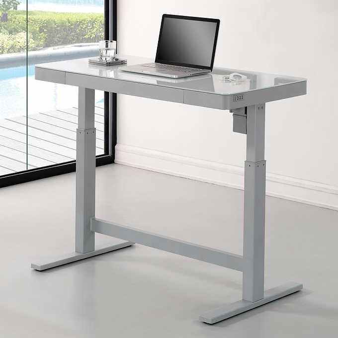 Tresanti Adjustable Height Desk In 2020 Adjustable Height Desk Adjustable Desk Adjustable Standing Desk