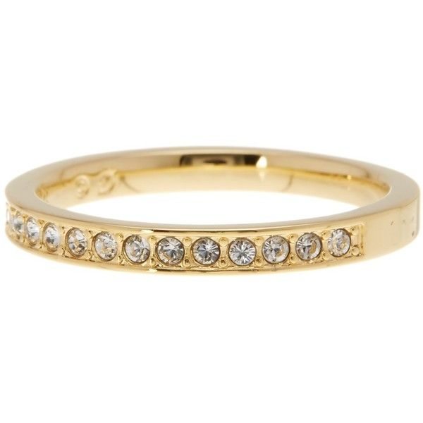 Swarovski 23k Gold Plated Rare Crystal Ring Size 55 Us 7 760 Mxn Liked On Polyvore Featuring Jewel Swarovski Crystal Rings Swarovski Ring Crystal Rings