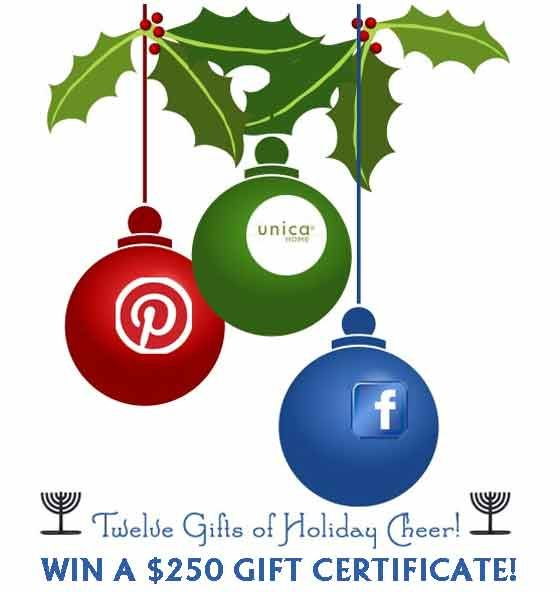 Win a $250 Gift Certificate from Unicahome! (and other cool stuff