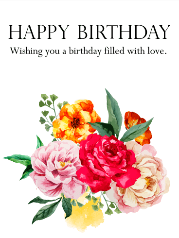 Lovely Birthday Flower Card Arent These Flowers Beautiful In