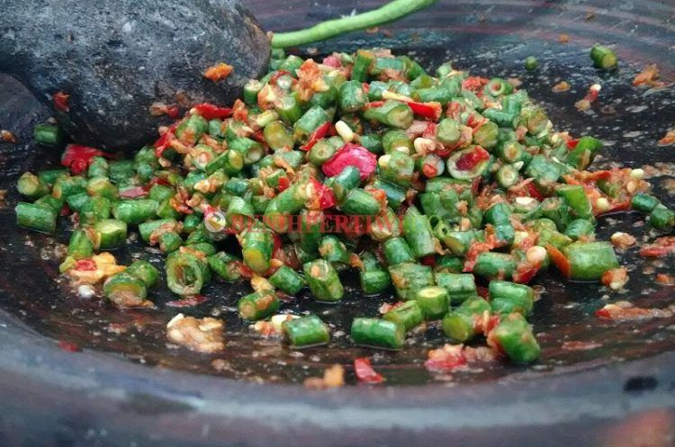 Sambal Pencok Sambal Kacang Panjang Mentah Benih Pertiwi Makanan Pedas Kacang Makanan Sehat