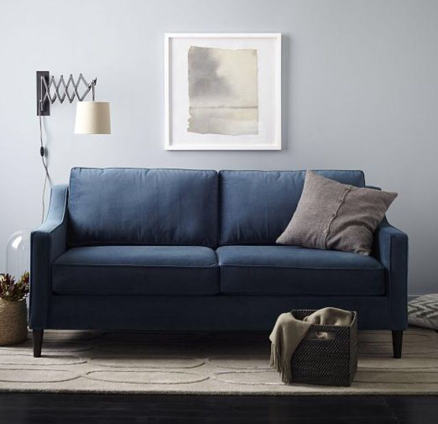West Elm Home Furnishings Store By Mbh Architects: West Elm Paidge Sofa In Indigo Blue