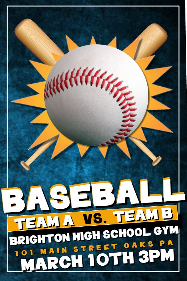 highschool baseball tournament poster flyer template sports poster