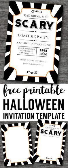 halloween invitations free printable template halloween