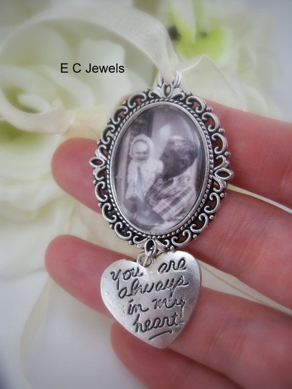 Engagement & Wedding Glass Photo Wedding Bouquet Charm Custom Made For You Personalized Memorial New For Sale Bridal & Wedding Party Jewelry