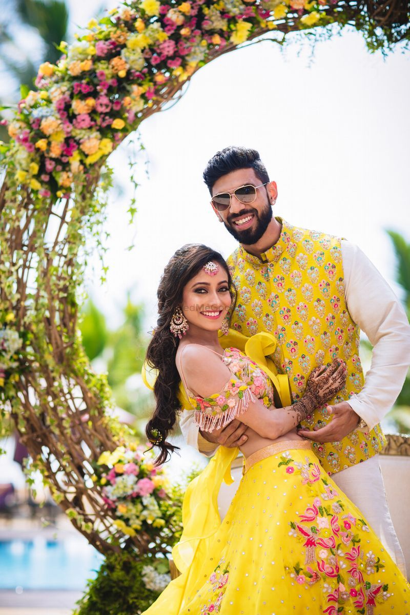Matching for Sangeet in another color in 2019