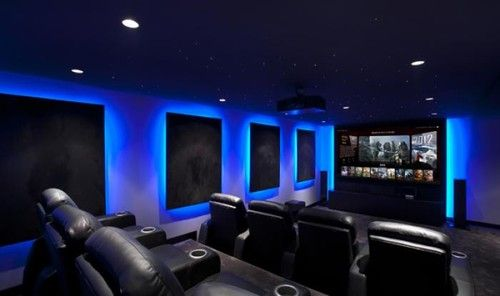Contemporary Media Room Home Cinema Room Home Theater Rooms Home Theater Setup