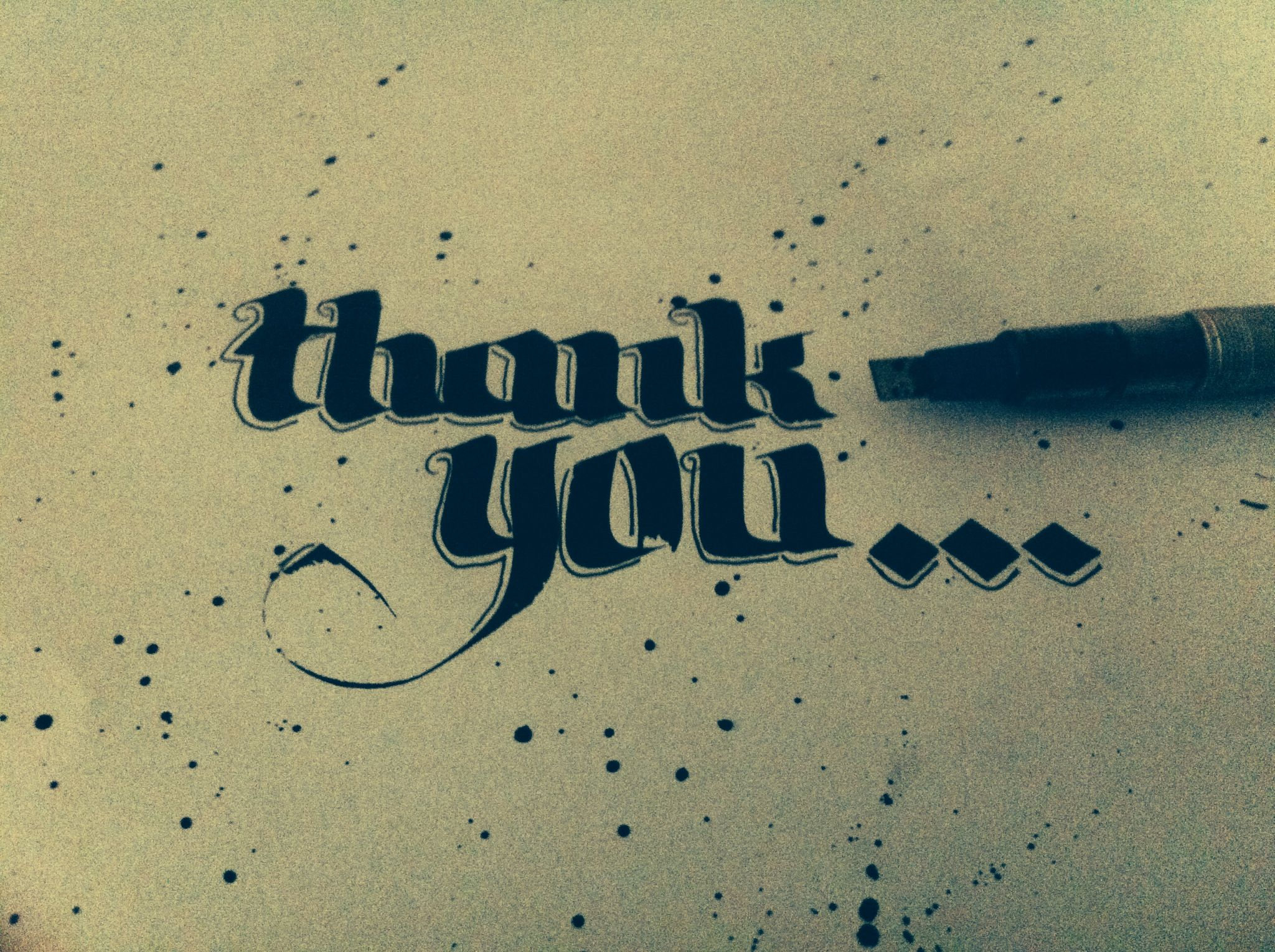 Thank you word of the day calligraphie calligraffiti