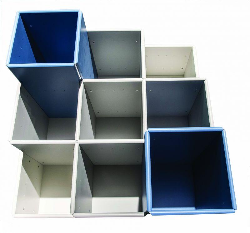 hangende boekenkast met diepteverdeling abc quadrant designkasten kasten lundia