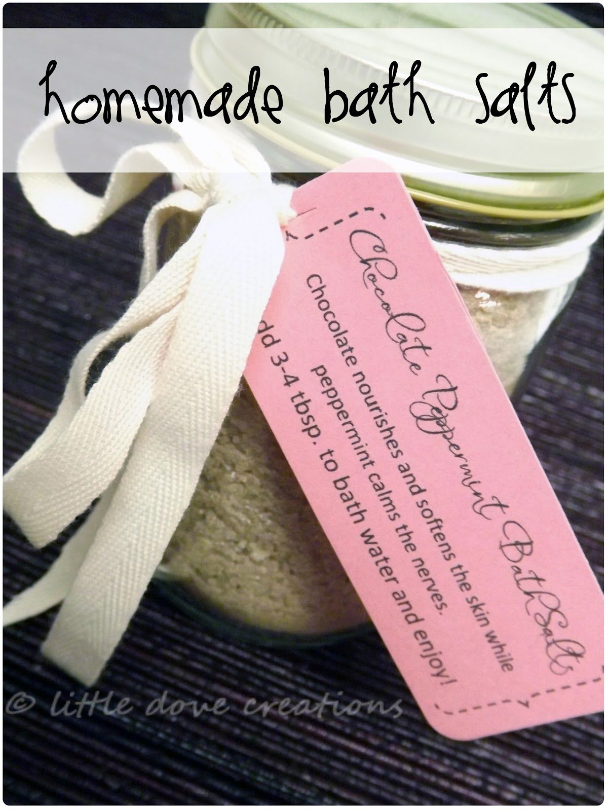 Little Dove Creations: chocolate peppermint bath salts | Young ...
