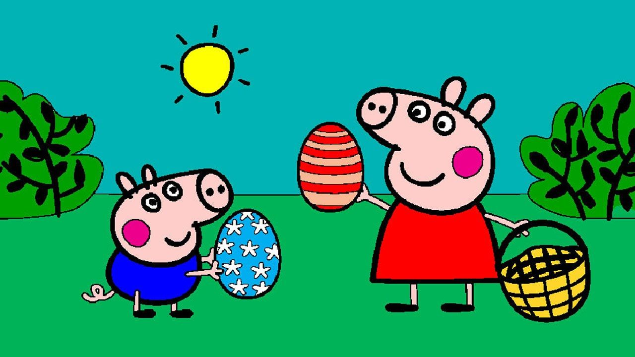 Peppa Pig Coloring Pages For Kids Peppa Pig Coloring Games Peppa And George Easter Coloring Bo Peppa Pig Coloring Pages Coloring Books Easter Coloring Book