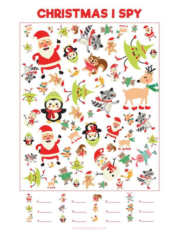 This is a photo of Crush Christmas I Spy Printable