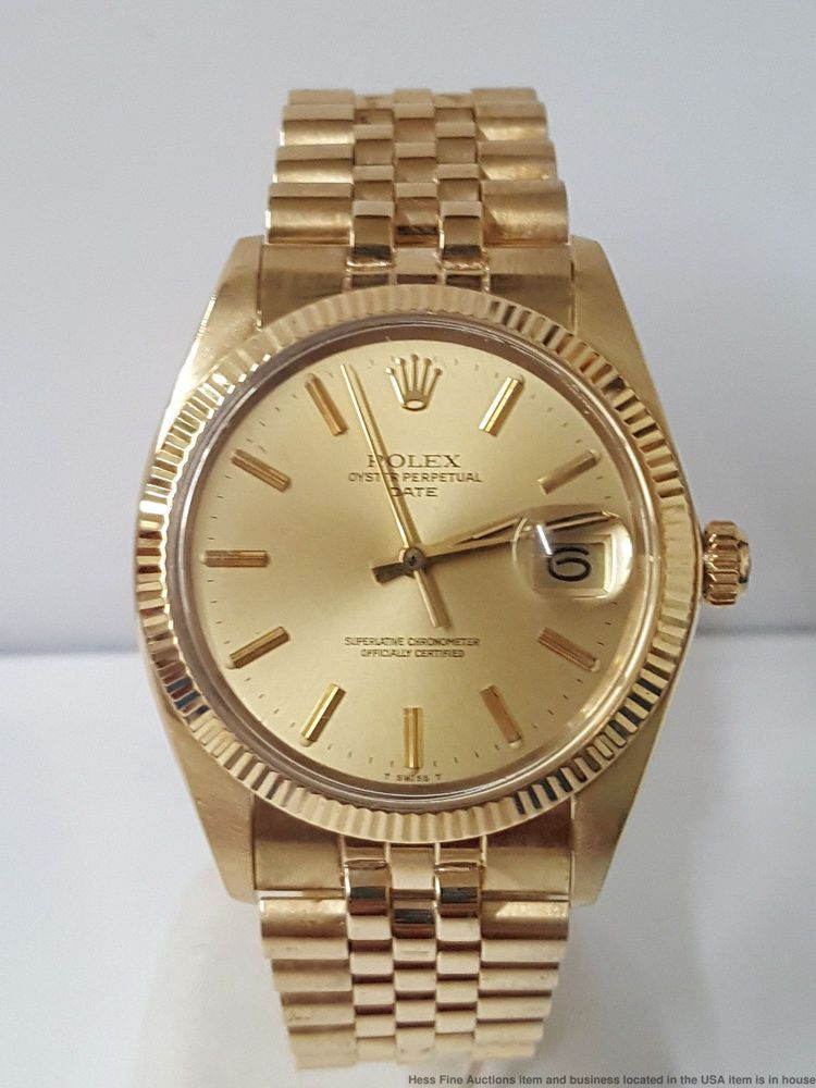 1970s 1503 All Gold Rolex Oyster Perpetual Mens No Stretch Minty Date Watch Rolex Futuro Inmediato Hombres Relojes Hombre