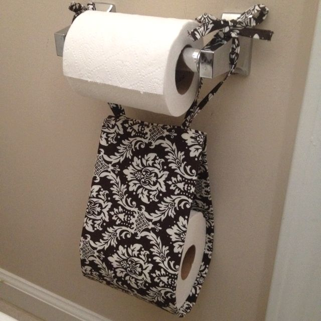 Diy Bathroom Projects Pinterest: My Homemade Toilet Paper Roll Holder Thanks To Pinterest