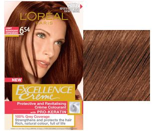 loreal excellence crÈme 6 54 light mahogany copper brown