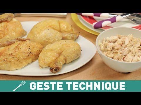 Comment découper un poulet cuit ?