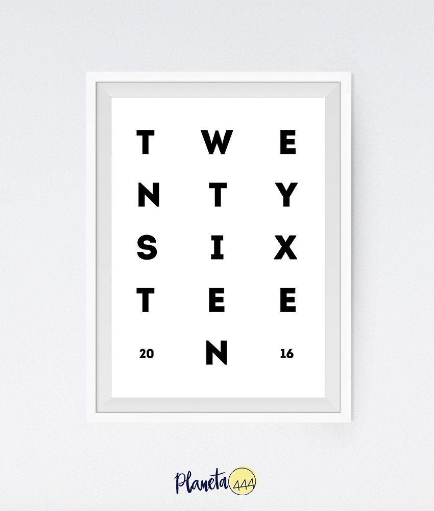 2016 twentysixteen happy new year typography minimalist monocromatic