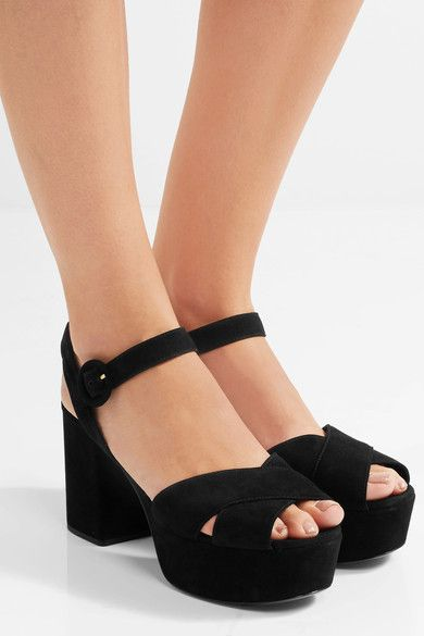 dbfad652fc71ab Prada - Suede Platform Sandals - Black - IT38.5. Prada suede platform sandals  Ankle Strap ...