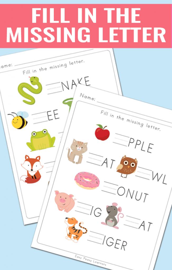 fill in the missing letter worksheets for kindergarten and grade 1 activities for kids. Black Bedroom Furniture Sets. Home Design Ideas
