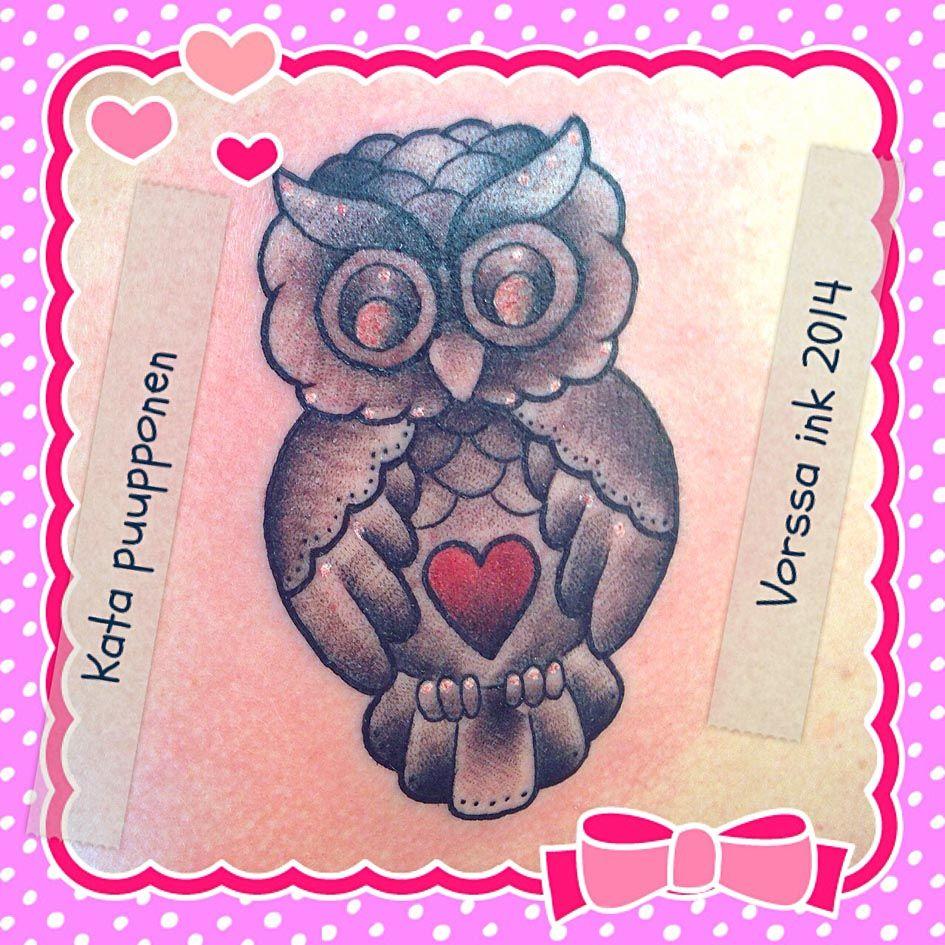 https://www.facebook.com/VorssaInk, http://tattoosbykata.blogspot.fi, #tattoo #tatuointi #katapuupponen #vorssaink #forssa #finland #traditionaltattoo #suomi #oldschool #owl