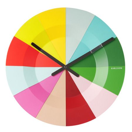 Tic Toc! Time to shop! Colourful clock by Karllson | Colour Me ...