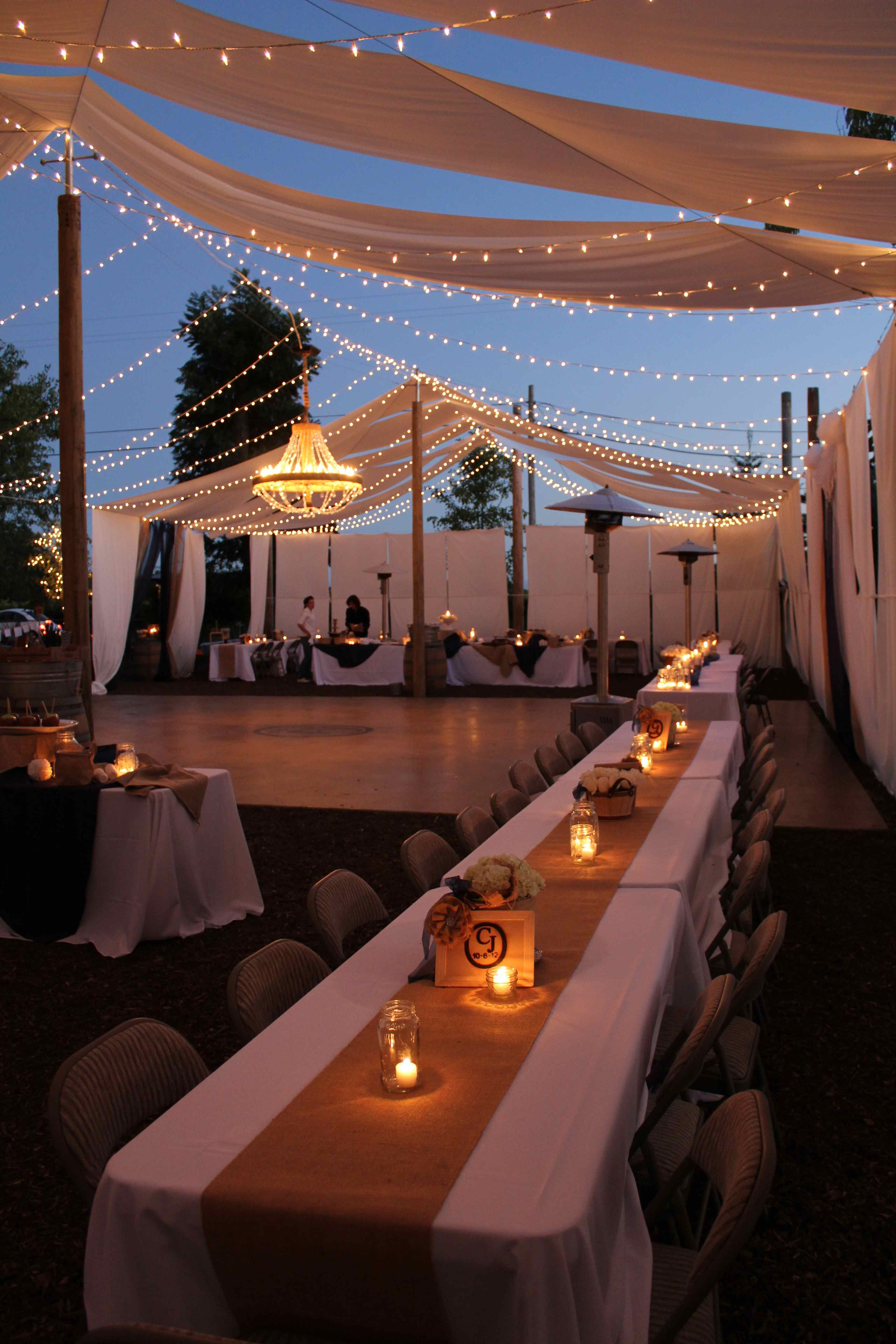 a beautiful night to celebrate diy backyard wedding reception