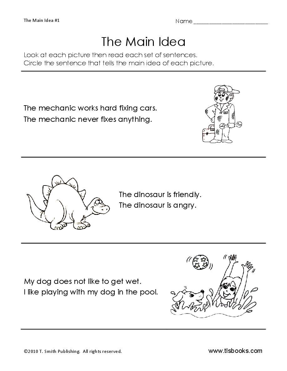 small resolution of Main Idea Worksheet 5   Main idea worksheet